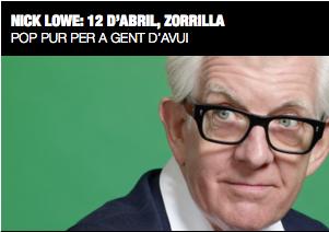 Nick Lowe /  Teatre Zorrilla / 12 d'abril / 21h